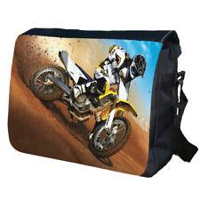 Dirt Bike Personalised School Shoulder Messenger Bag