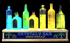 "LED ""PERSONALIZED TROPICAL PALM TREE"" shot glass or liquor bottle display"