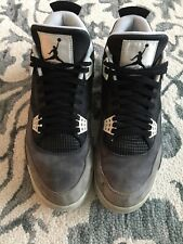 dddb87e9d79fb6 Nike Air Jordan 2013 Mens Retro 4 Fear Pack MJ Black Gray Size 12 626969-