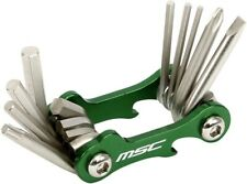 MSC Mini 10 function Multi Tool 3.5 x 2 x 6.3 cm Green anodized