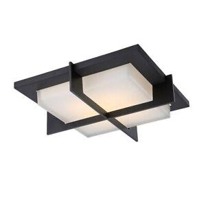 Modern Forms FM-4716-BZ Razor - 15.8 Inch 40W 1 LED Flush Mount Bronze