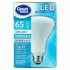 10 x NEW Great Value LED Light Bulb 9W (65W Equivalent) Dimmable Daylight-5000K