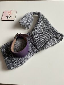 Whippet Collar & Wooly Hat