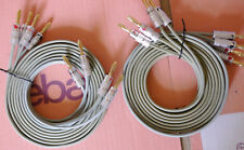 """VAN DEN HUL """"THE SKYTRACK"""" 2.5 M BI-WIRE CABLES  WITH NEW NAKAMICHI PLUGS"""