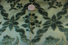 """Antique French Cut Silk Velvet Textile Fabric ~22"""" Square~Pillows, Xmas Projects"""