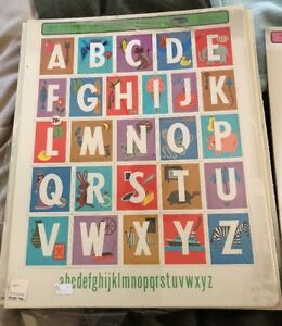 NEW 1966 ALPHABET PUZZLE VINTAGE Whitman Help Yourself 1-2-3 Frame Tray