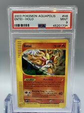 🔥Entei Holo - Pokemon Aquapolis Set - PSA 9 - MINT 🌱