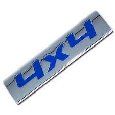 CHROME/BLUE METAL 4X4 ENGINE RACE MOTOR SWAP EMBLEM BADGE FOR TRUNK HOOD DOOR