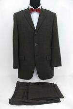 Joseph Abboud 3Btn Men's Suit Taupe Black Nailhead Wool 40L