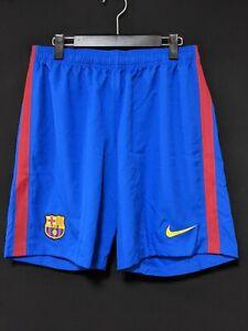 2016-17 Barcelona Home Football Shorts Soccer L *Near Mint Condition* NIKE