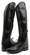 Hispar Women Ladies Crown English Field Horse Motorcycle Riding Boots Equestrian