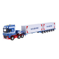 """1/50 Alloy Diecast Vehicle Toy Container Truck Model Heavy Transport Car 14"""""""