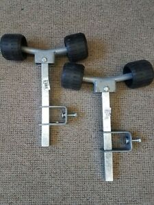 1 Paar Brenderup Doppelstützen,Stützrollen Sliprollen für Rahmenmaß 60 x/40/30mm