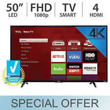 "TCL 50"" Inch 4K Ultra HD 2160p Roku Smart LED TV 60Hz w/ 4 HDMI & USB - 50UP120"