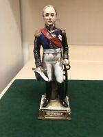 Antique 1900s porcelain figurine Bourdois Bloch French General Suchet