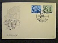 Germany DDR SC# 253 / 254 1955 FDC / Unaddressed / Cacheted - Z4547