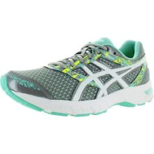 Asics Womens Gel-Excite 4 Running Shoes Low Top Trainers Sz 8 Grey Green Athltic