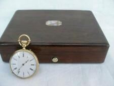Fine 18 Carat Gold Ladies Swiss Made Pocket Watch By Octavie Roulet in Box.