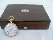 Fine 18 CT Oro reloj de mujer De Bolsillo hecho en Suiza por viaje Roulet en caja.