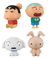 Bandai Crayon Shin Chan Figure Capchara 2 Gashapon Shiro Bunny Dog set 4 pcs