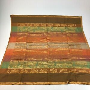 Vintage Multi color African style scarf or wrap 34 x 32.5