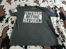 New listing Authentic Grunt Style. VETERANS BEFORE REFUGEE'S, T-SHIRT, XL GRAY, COTTON BLEND