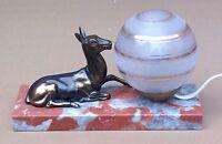 Lampe régule BICHE sur marbre ancienne de bureau chevet art déco veilleuse
