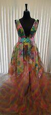 Ethereal Rainbow Fairy Garden Nymph Floral Bohemian Bridal Wedding Ballgown