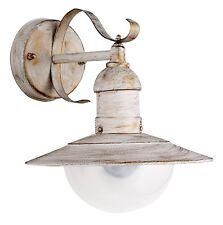 Außenleuchte Hoflampe Wandlampe Shabby Antik-Weiß-Gold IP44 - Rabalux Oslo 8681