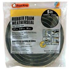 Frost King Available R930H Sponge Rubber Foam Tape 9/16-Inch, Black, 1/2