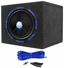 "Power Acoustik Mofo-152X 15"" 3000 Watt Car Subwoofer + Sealed Sub Enclosure Box"