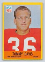 1967 TOMMY DAVIS - Philadelphia Football Card - # 174 - SAN FRANCISCO 49ers