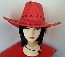 Red Sequin Cowboy Cowgirl Hat Party Costume/Christmas
