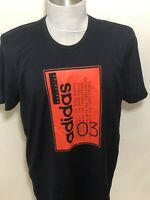 ADIDAS Mens T-Shirt Navy Red Size Medium BNWT