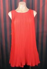 Target, Red, Size 14 Womans, Pleated Sleeveless Top