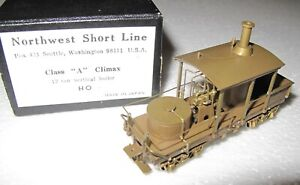 Northwest Short Line HO Class A Climax 12 Ton Vertical Boiler in Box