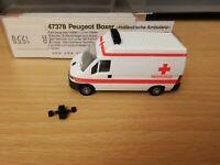(D2) Busch 47378 H0 1:87 Peugeot Boxer Holländische Ambulanz OVP