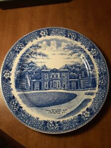 Vintage English Staffordshire Ware Home Of Henry Clay Lexington Kentucky Plate