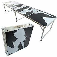 BRAND NEW 8' BEER PONG TABLE ALUMINUM FOLDING TAILGATE PARTY DRINKING GAME #1