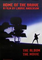 Laurie Anderson 1986 Home Of The Brave Original Promo Poster