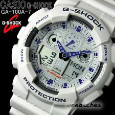 CASIO G-SHOCK MENS WATCH GA-100A-7A FREE EXPRESS WHITE GA-100A-7ADR DIGITAL