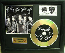 Black Veil Brides Preprinted Autograph, Gold Disc & Plectrum Presentation