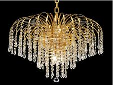 "Palace Lexington 19"" 6 light Crystal Chandelier Light Gold ceiling light"