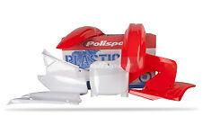 Honda Plastic Kit CR 125 / 250 2000 - 2001 OEM Red white 90081 Polisport moto X