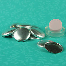 "10 FLAT BACK Cover/Covered Buttons Kit Size 24 (5/8""/15mm) Fabric FREE SHIPPING"