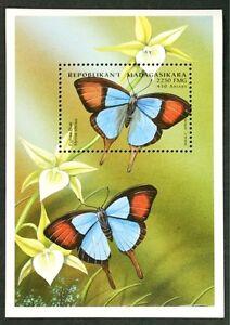 B146 MADAGASCAR 1998 Butterflies S/S #4 MNH