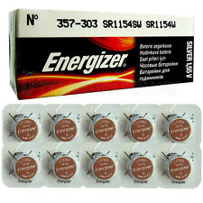 10 x Energizer Silver Oxide 357/303 batteries 1.55V D357 V357 SR44 Watch