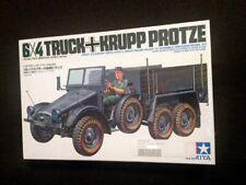 1/35 Tamiya #102 German 6x4 Truck Krupp Protze vintage model kit 1978