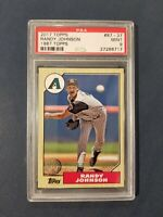 2017 Topps 1987 Topps #87-37 RANDY JOHNSON ~HOF~ Diamondbacks PSA 9 Mint *POP 4*