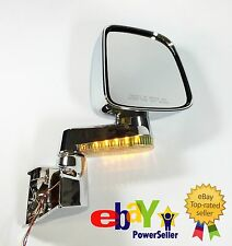 Side-Mirror Pair L+R for Jeep Wrangler 04-06, Chrome Plated with LED, JM3515CL